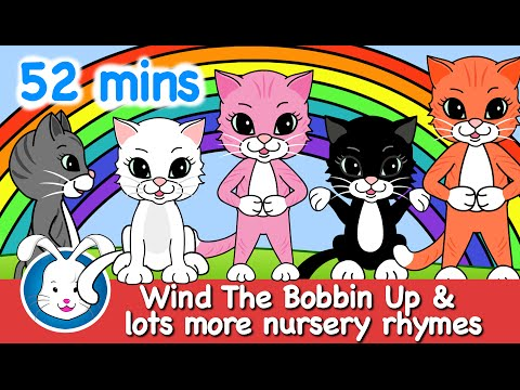 Wind the Bobbin Up with actions & lyrics | Nursery Rhymes for kids
