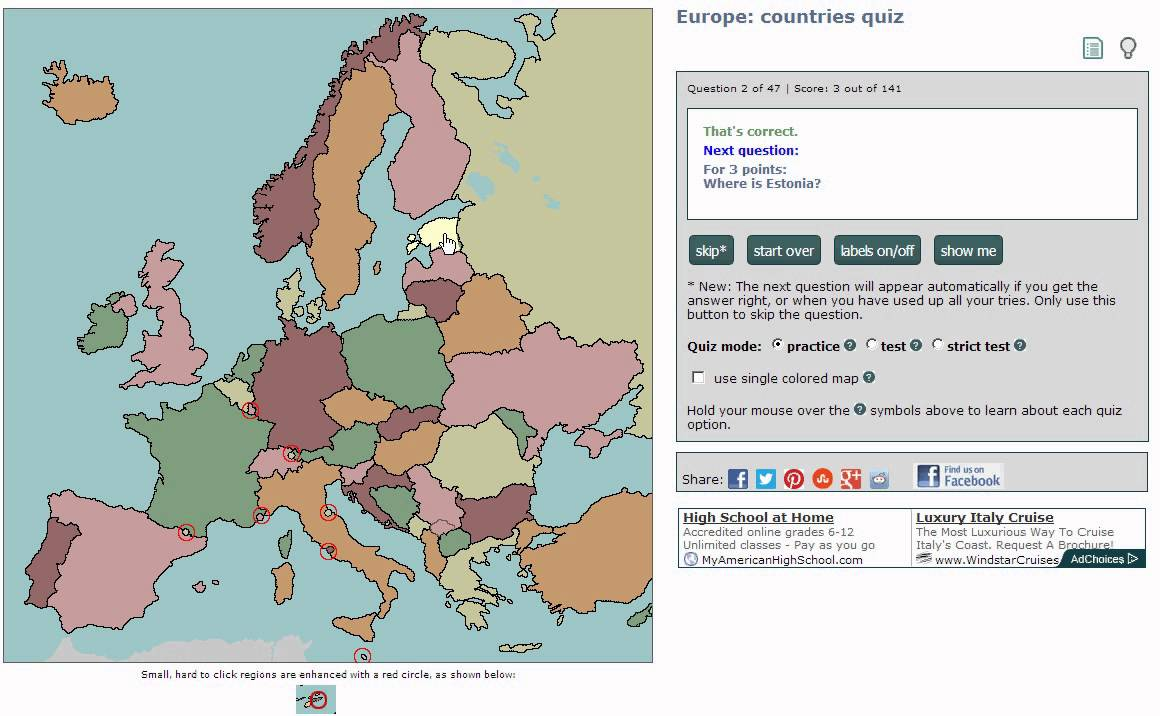 Sample of european countries geography quiz using chrome browser sample of european countries geography quiz using chrome browser no audio gumiabroncs Image collections