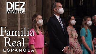 Los Reyes y sus hijas ofrendan a Santiago Apóstol | Diez Minutos