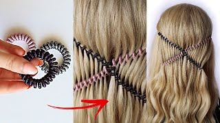 😱 Easy Hair HACK using SPIRAL HAIRBANDS    trending hairstyle    party UPDO #shorts