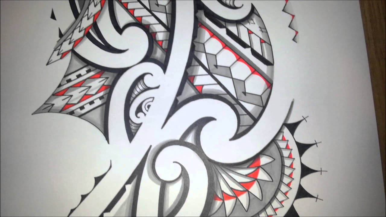 Awesome Tribal Tattoo: Awesome Maoristyle Drawing! Handdrawn Tribal Tattoo With