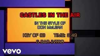 Don McLean - Castles In The Air (Karaoke)