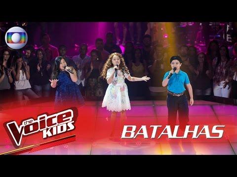 Anna Lira, Flávia Scanuffo e Thomas Machado cantam 'A Banda' nas Batalhas – The Voice Kids