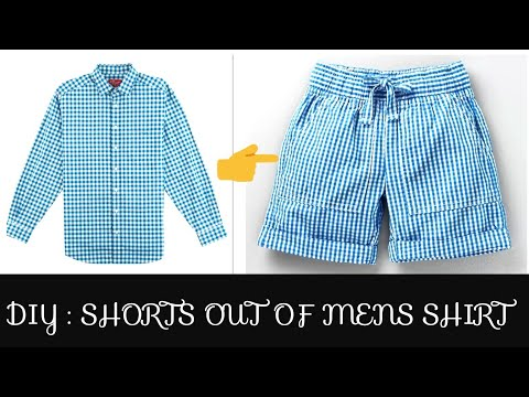 DIY CONVERT OLD MENS SHIRT INTO SHORTS DIY SHORTS