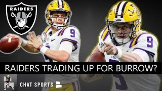 Raiders Drafting Joe Burrow? Raiders Rumors: Derek Carr Trade, Chris Jones Free Agency, AB Fight