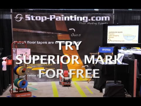 Use Superior Mark Floor Tape for Marking Warehouse Floors Instead of Painting  YouTube