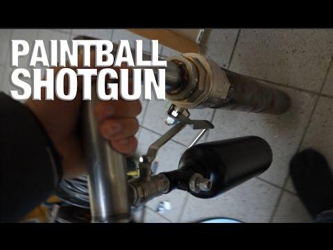 PAINTBALL SHOTGUN - TURNEN ZUSJE - ENORME GAS BALLON ONTPLOFFEN