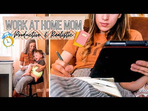 Work at Home Mom Schedule (Productive & Realistic Routine) + Tips for Working from Home - YouTube