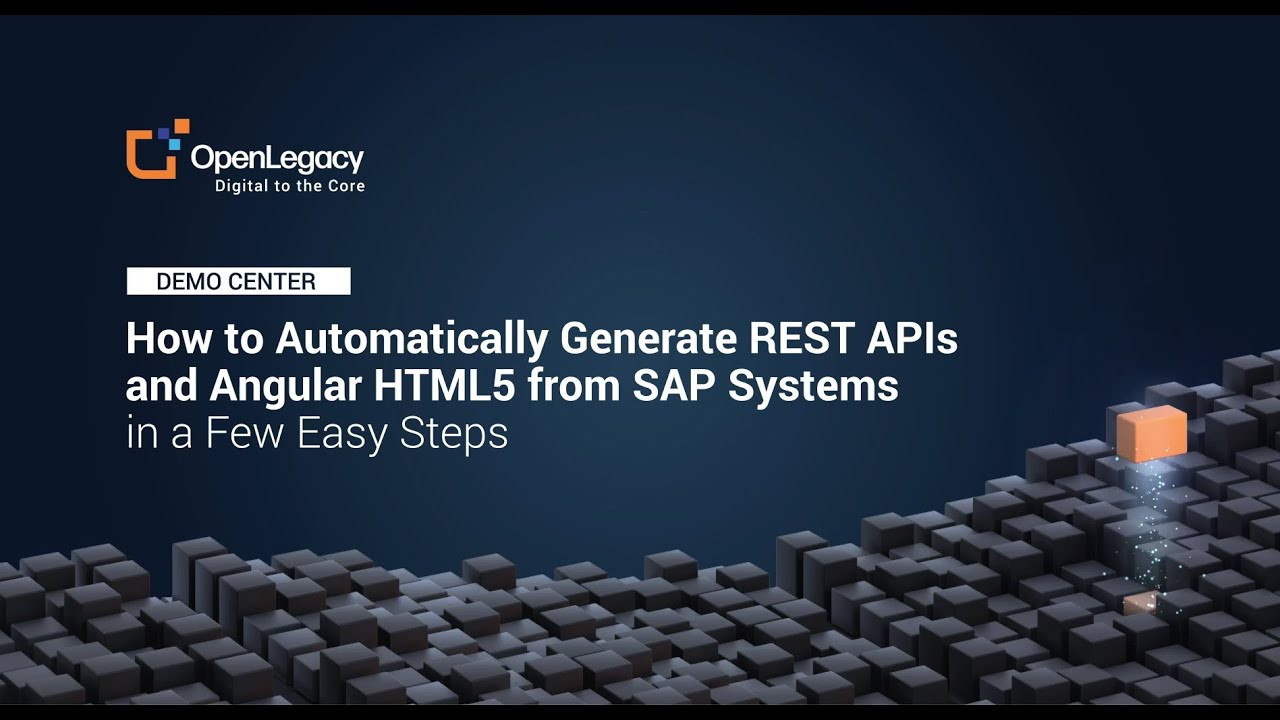 Download How to Automatically Generate REST APIs and Angular HTML5 from SAP Systems