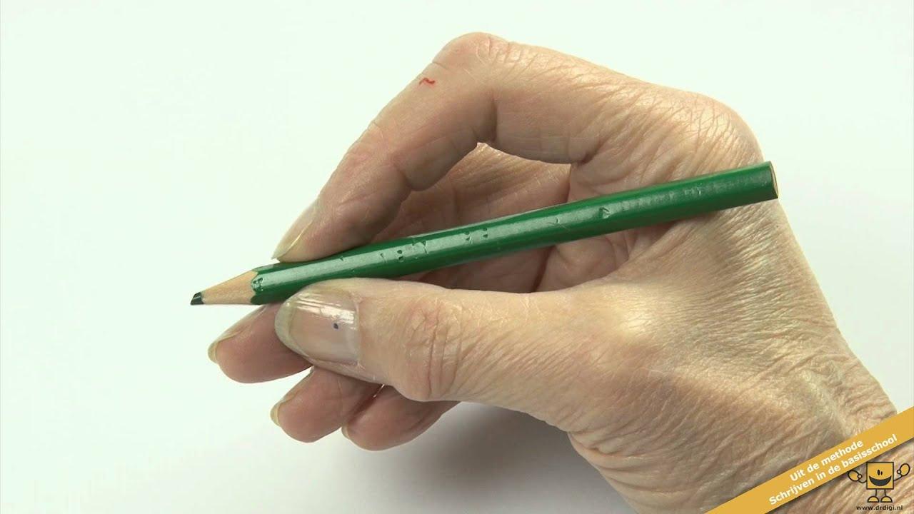 Schrijven met een goede en ontspannen pengreep YouTube