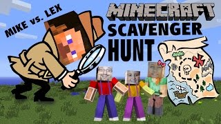 Minecraft Scavenger Hunt w/ Dad & Kids! (Pocket Edition Game) Mike vs. Lex - CREATIVE FUN!