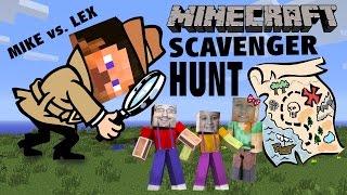 Minecraft Scavenger Hunt w/ Dad & Kids! (Pocket Edition Game) Mike vs. Lex - CREATIVE FUN!