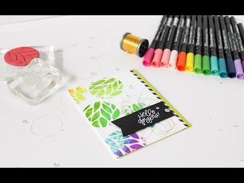 Satur-YAY!  3.25.17 - Zig Art & Graphic Twin Marker vs. Clean Color Real Brush Marker