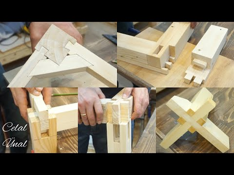 Wood corner joints / Woodworking joints / Part 2 / Ahşap birleştirme teknikleri