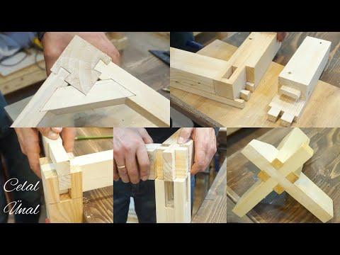 Wood corner joints / Woodworking joints / Part 2 / Ahşap birleştirme teknikleri