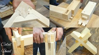 Wood corner joints / Woodworking joints / Part 2