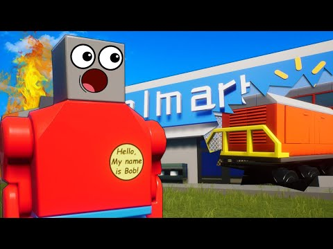 OB & I Went to Lego Walmart for Train Stopping Supplies in Brick Rigs Multiplayer Roleplay!