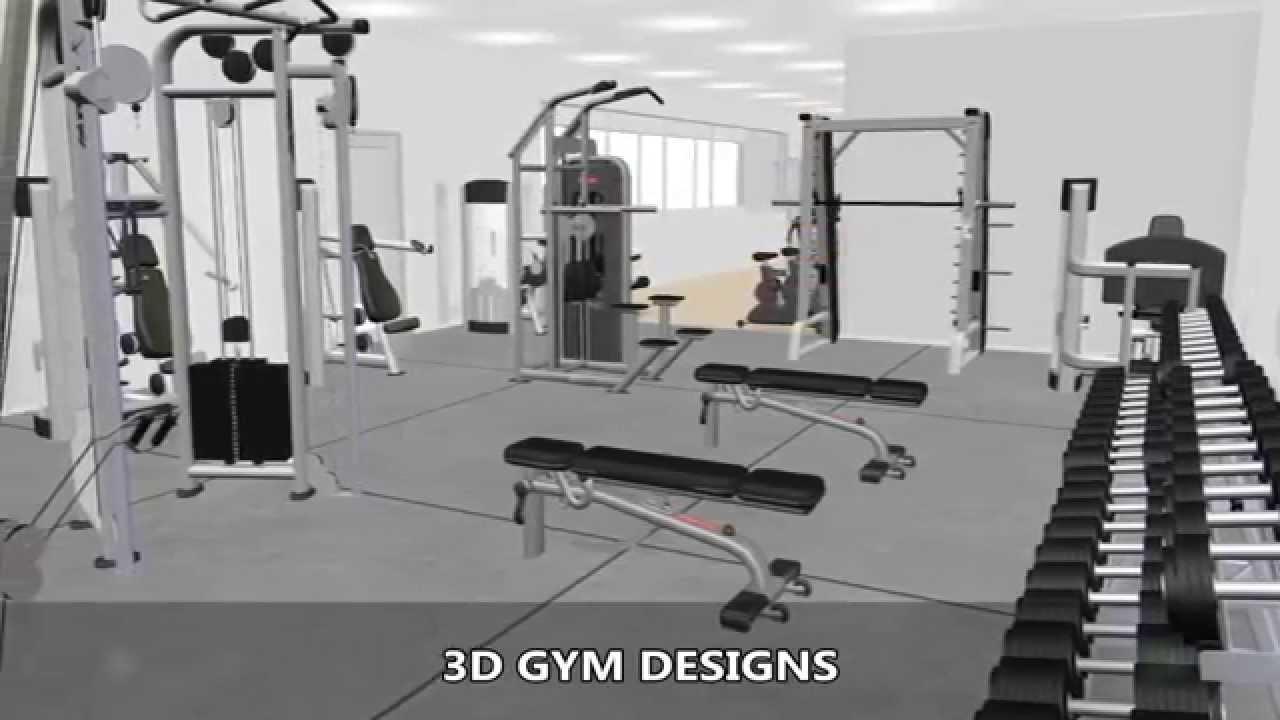 3d gym equipment designs youtube