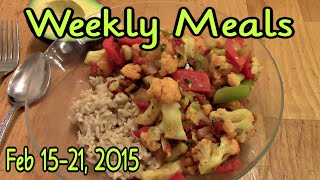 Weekly Meals February 15th - 21st, 2015