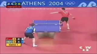 Olympics 2004 Wang Liqin vs Jan-Ove Waldner
