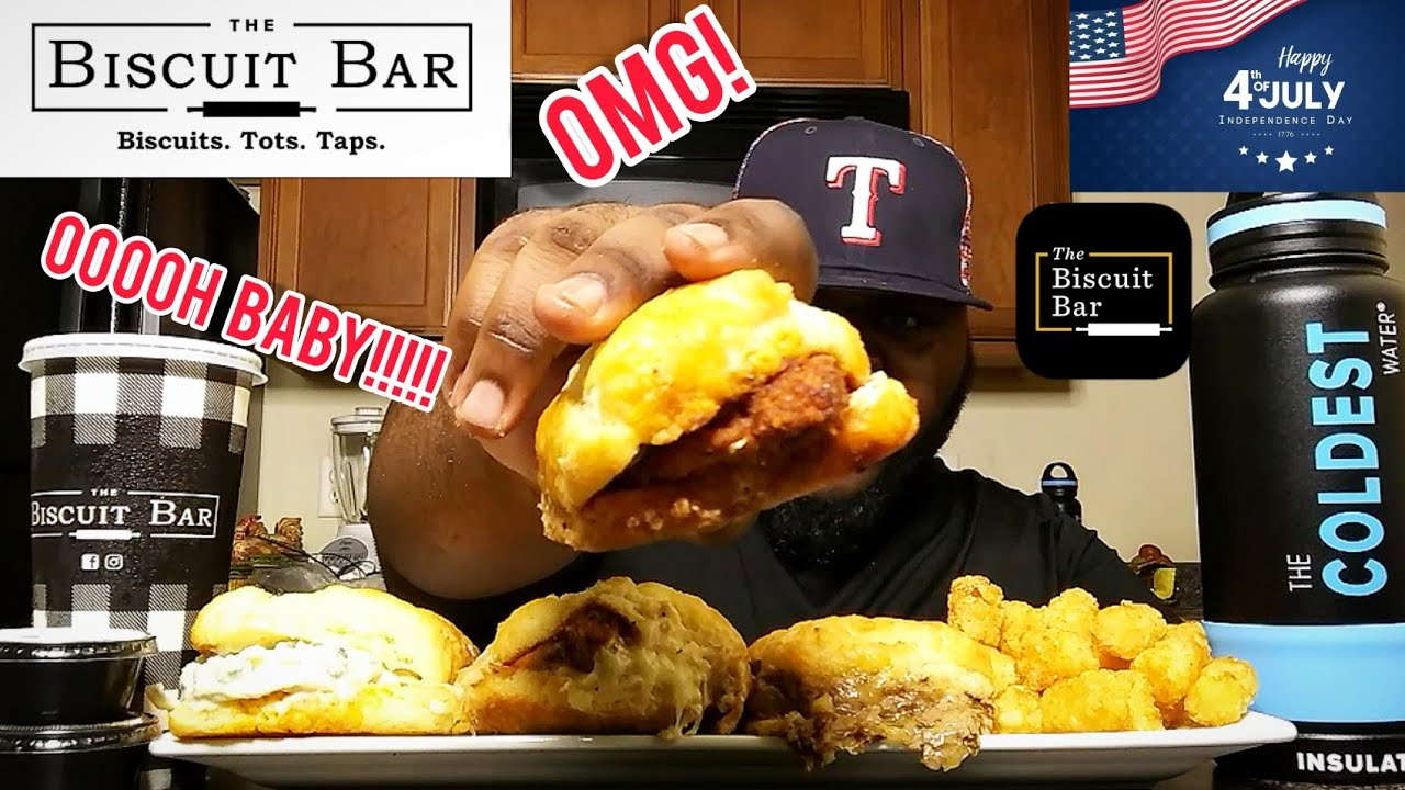 BISCUIT SANDWICHES  MUKBANG!!!!(THE BISCUIT BAR)