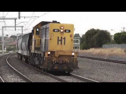 Australian Trains - Grain Freight Trains around Melbourne - Eisenbahn / Treno / Trein / Tren