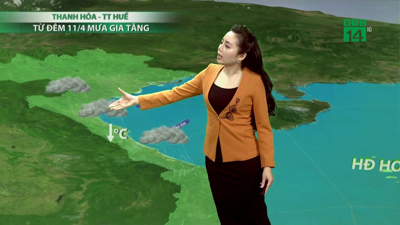 Thời tiết cuối ngày 09/04/2020: Bắc Trung Bộ vào đêm và sáng có mưa ở một vài nơi | VTC14