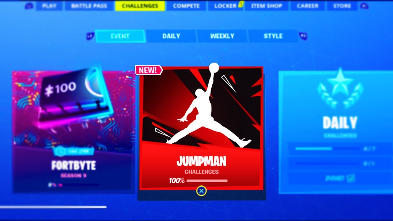 simpatía carta Hecho para recordar  The FREE Fortnite X Jordan EVENT REWARDS! (FREE ITEMS) - YouTube