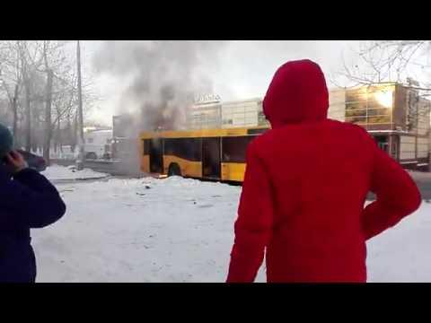 В Перми сгорел пассажирский автобус, 20.11.2016