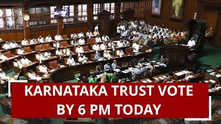 Karnataka crisis: SC says Speaker confident of holding trust vote today