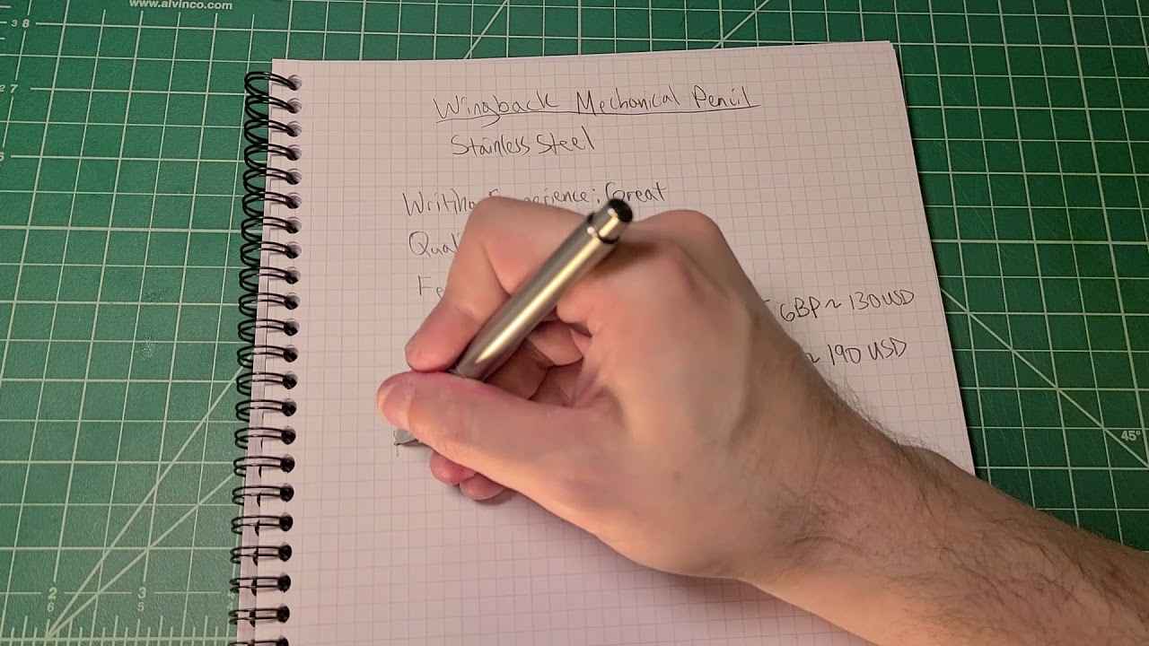 Wingback Mechanical Pencil Review