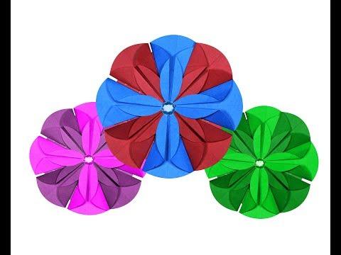 Paper crafts : paper dahlia | paper flower tutorial | paper flower | paper rose | Nira paper crafts|