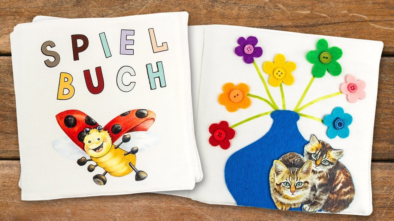 Ideen Mit Herz Diy Stoff Buch Für Kinder Basteln Textil Spielbuch Mit Filz Bügelmotiven