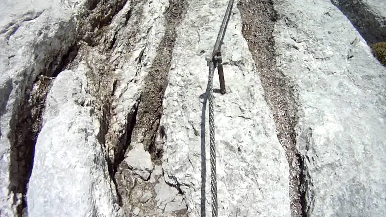 Klettersteig Johann Topo : Dachstein johann klettersteig extrem youtube