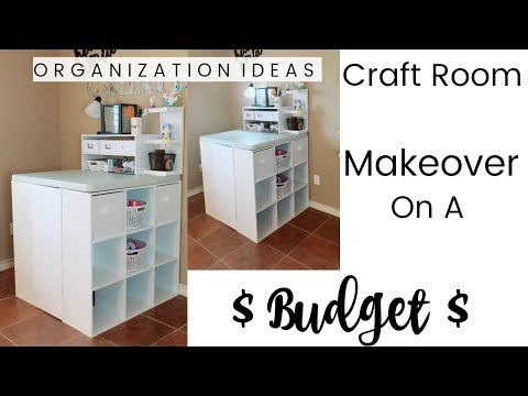 Craft Room Makeover On A Budget | ORGANIZATION IDEAS