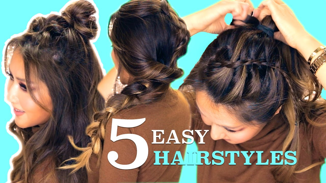 5 LAZY Easy HAIRSTYLES  Cute Summer Braids - YouTube