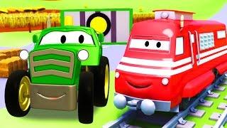Troy el Tren y el Tractor en Auto City | Dibujos animados para niños