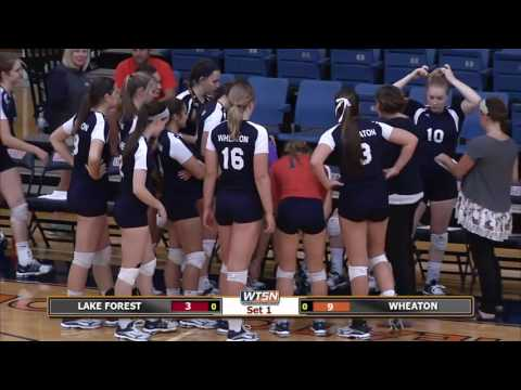 2016-09-13 Wheaton College Volleyball vs Lake Forest College
