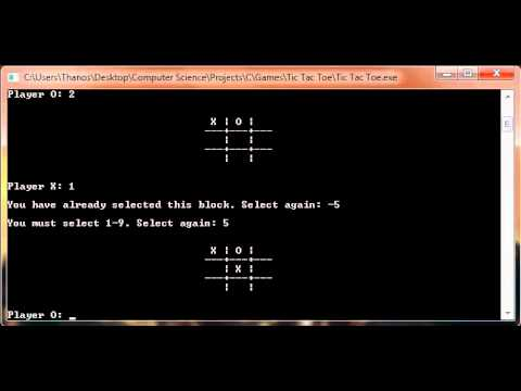 Tic Tac Toe in C Programming Language