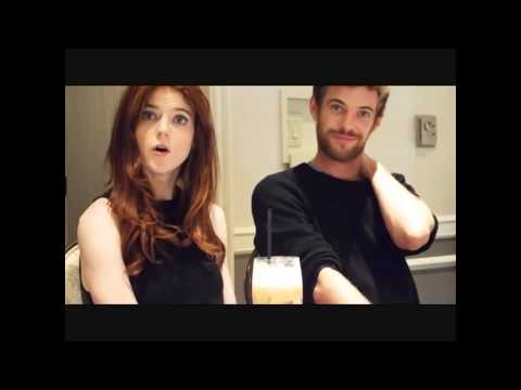 with Rose Leslie & Harry Treadaway by the IN