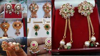 New Little Earrings Design 2019 | Latest Tops Design |Golden Earrings  | Rajputi Earrings | टॉप्स