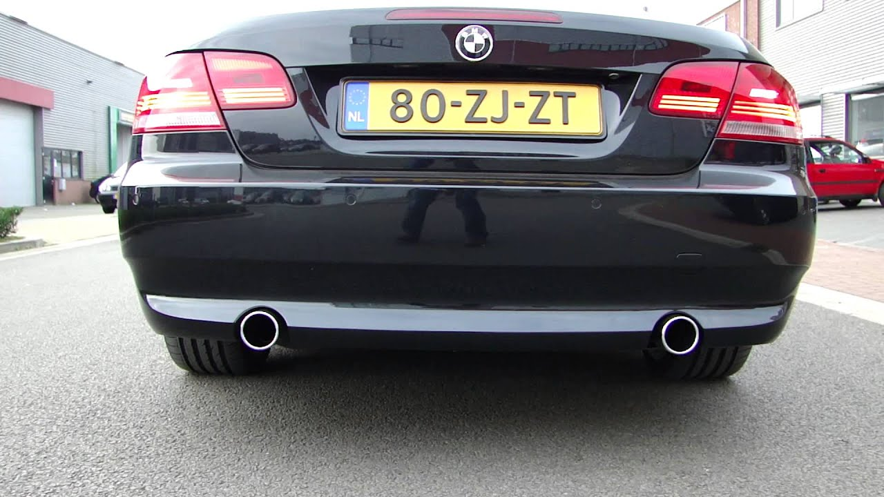 bmw e92 330i coupe 335i look exhaust system sportauspuff www auspuffpunkt de youtube. Black Bedroom Furniture Sets. Home Design Ideas
