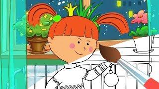 Раскраска с Царевной - С Новым годом! - Новогодние мультики для детей - Учим цвета