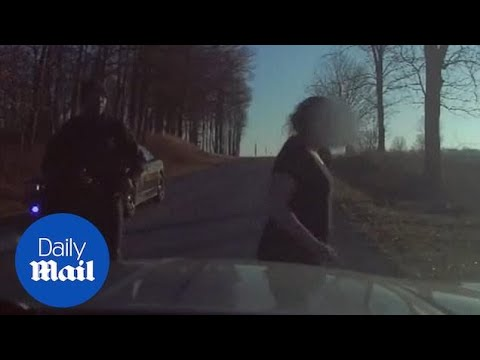 Naked woman leads police n 75 mile car chase after
