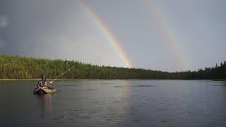 И снова рыбалка и снова в Карелии 1 я часть Дикие