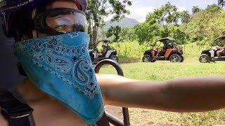 Riding ATVs in the Dominican Republic Jungle