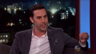 Sacha Baron Cohen says King Julien's accent was based on his Sri Lankan lawyer - Jimmy Kimmel Live