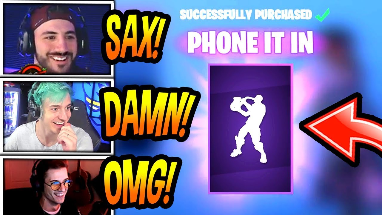 streamers-react-to-new-phone-it-in-emote-dance-saxophone-fortnite-funny-epic-moments