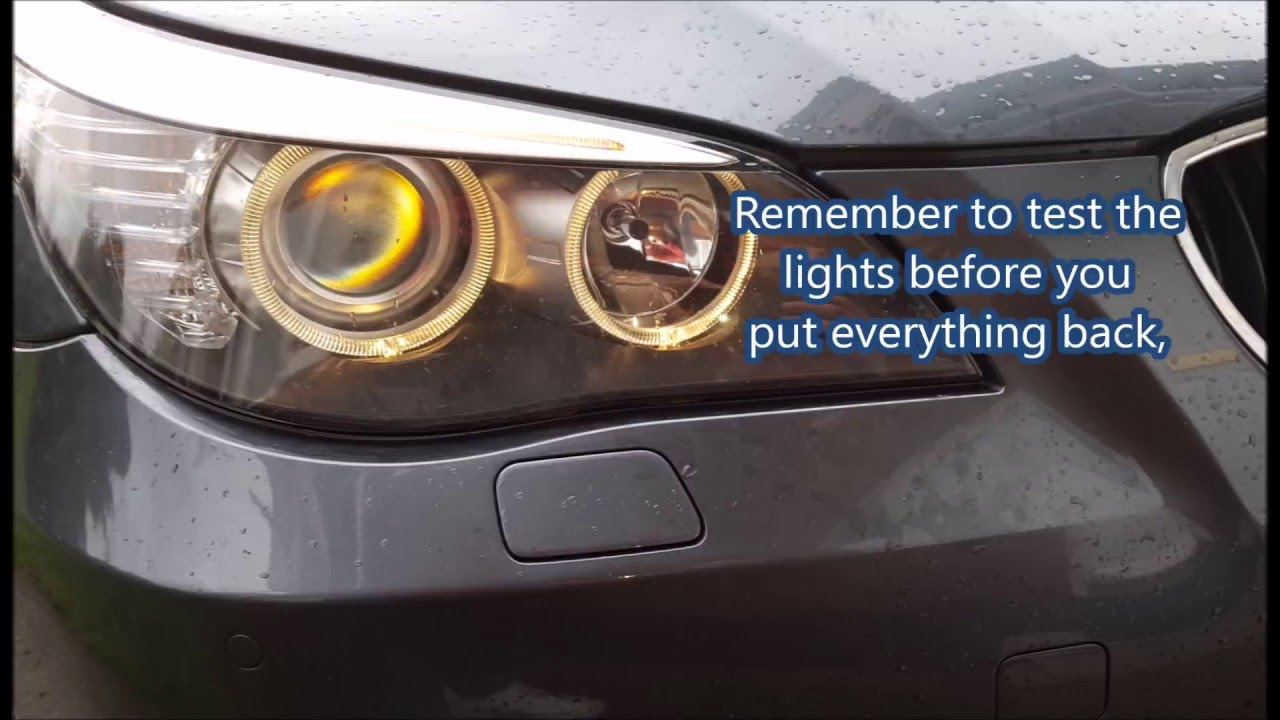 How To Replace Bmw 520d E60 Lci Angel Eyes Bulb Youtube