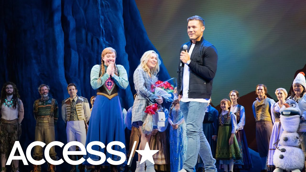 Colton Underwood & Cassie Randolph Do Date Night At 'Frozen' On Broadway! | Access